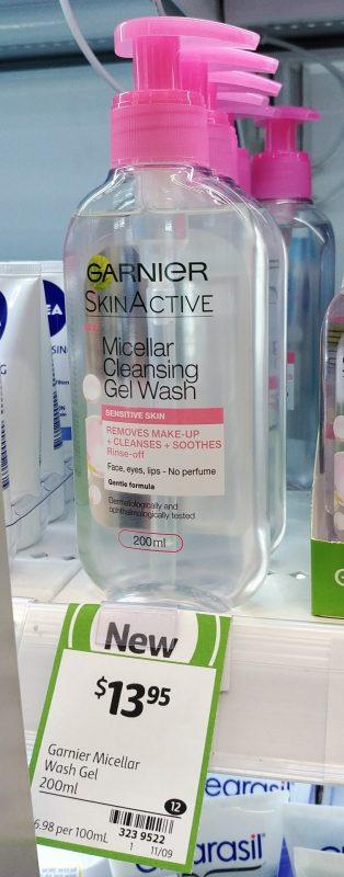 Garnier 200mL Gel Wash Micellar Cleansing Sensitive Skin