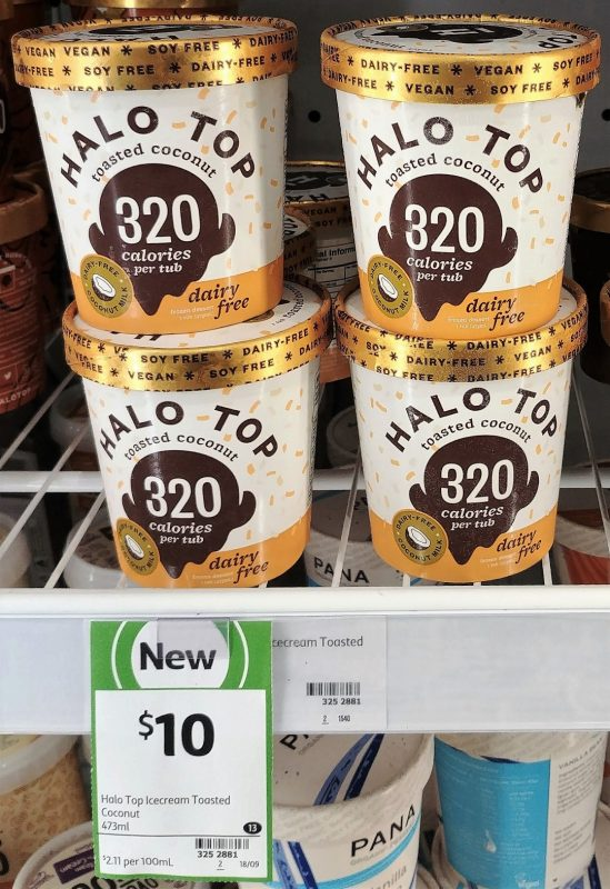 Halo Top 473mL Dairy Free Toasted Coconut