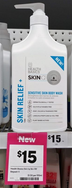 Health Basics 1L Body Wash Skin Relief