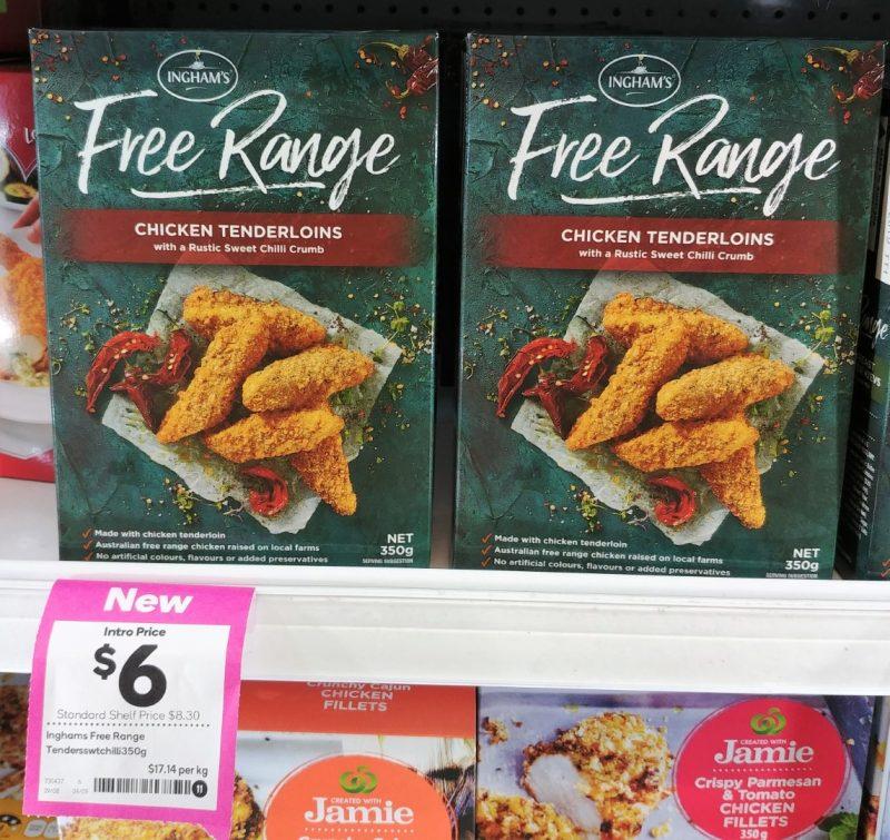 Ingham's 350g Free Range Chicken Tenderloins Rustic Sweet Chilli Crumb