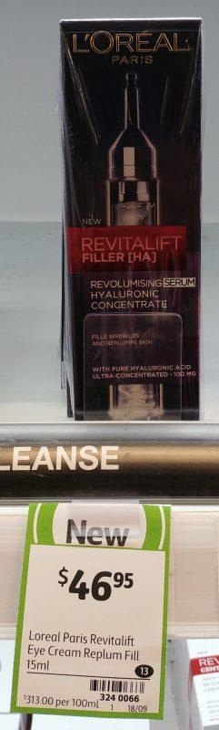 L'Oreal 15mL Eye Cream Serum Revitalift Filler [HA]