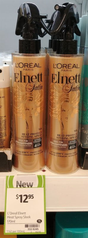 L'Oreal 170mL Elnett Satin Heat Protect Styling Spray