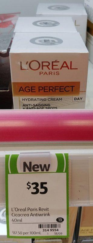 L'Oreal 40mL Anti Sagging + Anti Age Spots Age Perfect