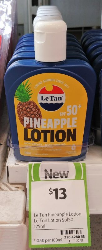 Le Tan 125mL Sunscreen Lotion Pineapple