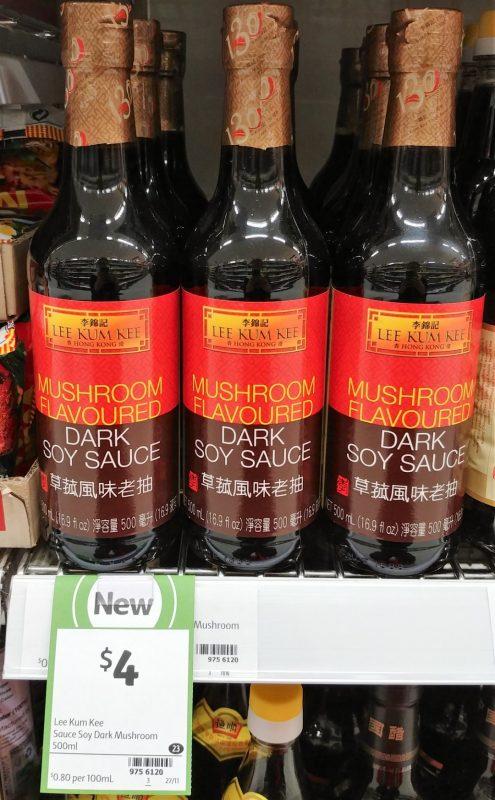 Lee Kum Kee 500mL Dark Soy Sauce Mushroom Flavoured