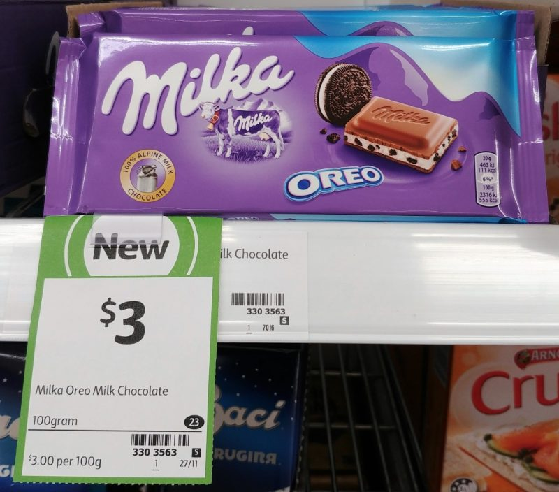 Milka 100g Milk Chocolate Oreo
