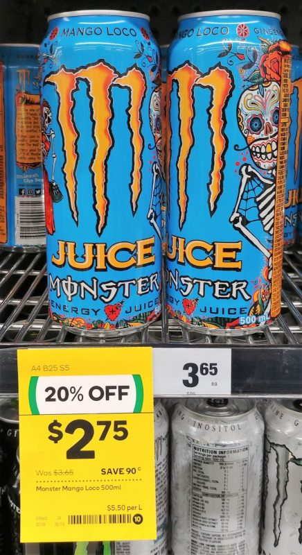 Monster 500mL Energy Drink Mango Loco