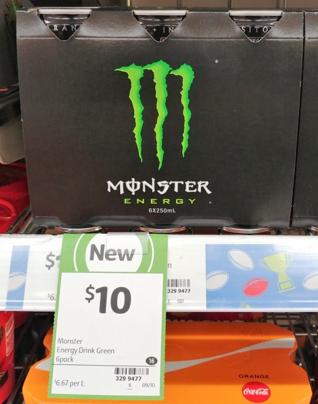 Monster 6 X 250mL Energy Drink