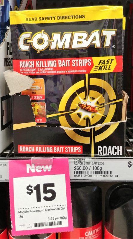 Mortein 12g Combat Roach Killing Bait Strips