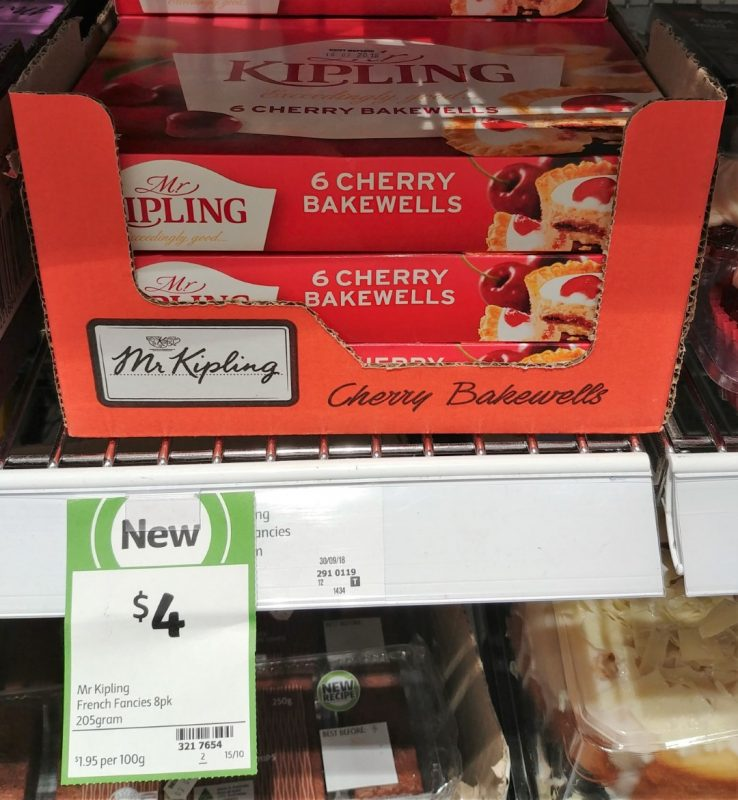 Mr Kipling 205g Bakewells Cherry