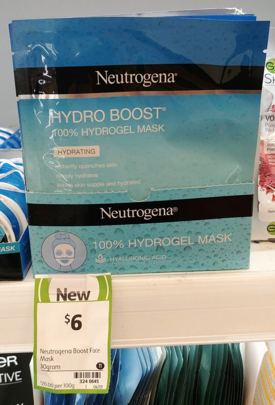 Neutrogena 30g Hydro Boost 100% Hydrogel Mask Hydrating