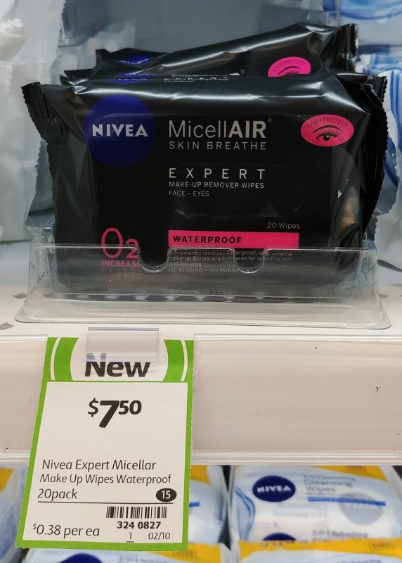 Nivea 20 Pack MicellAIR Make Up Remover Wipes Expert Waterproof