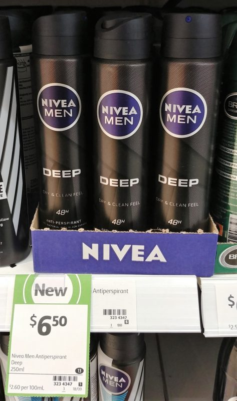 Nivea 250mL Anti Perspirant Men Deep