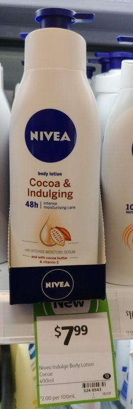 Nivea 400mL Body Lotion Cocoa & Ingulging