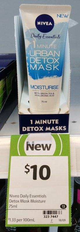 Nivea 75mL Moisturise 1 Minute Urban Detox Mask