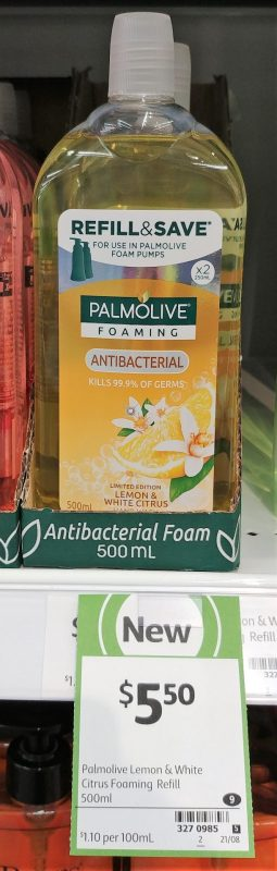 Palmolive 500mL Antibacterial Foaming Lemon & White Citrus