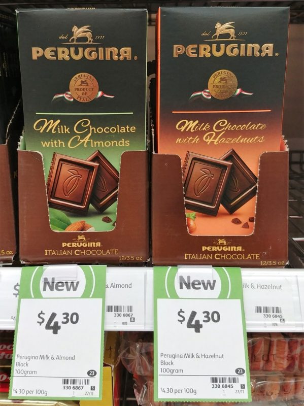 Perugina 100g Milk Chocolate With Almonds, Hazelnuts