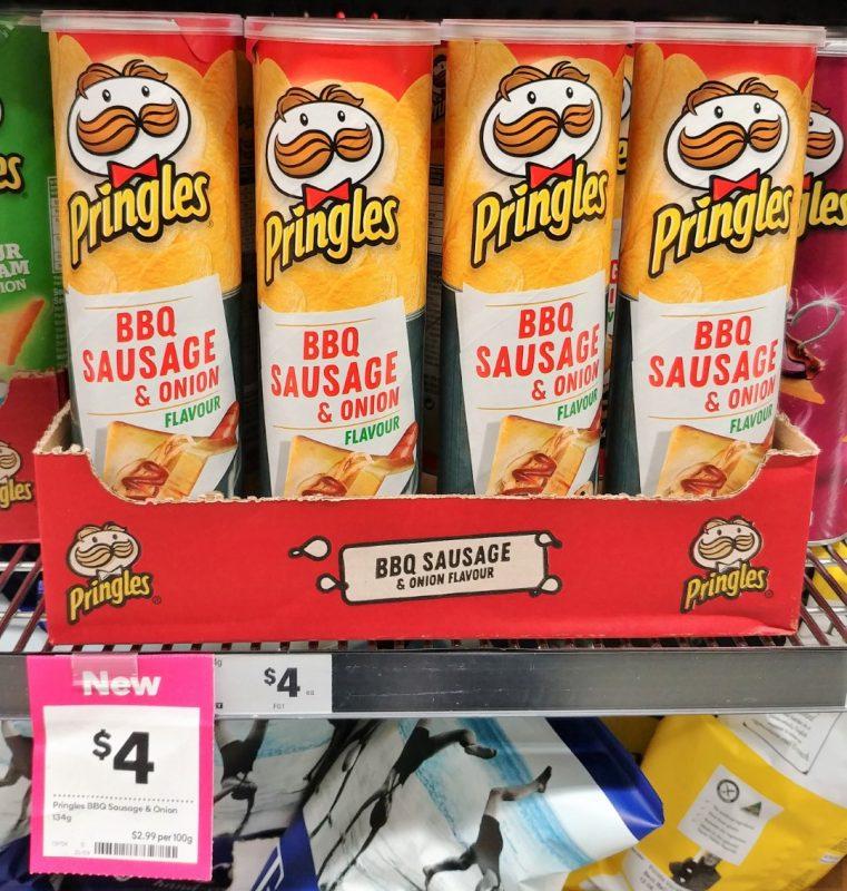 Pringles 134g BBQ Sausage & Onion Flavour