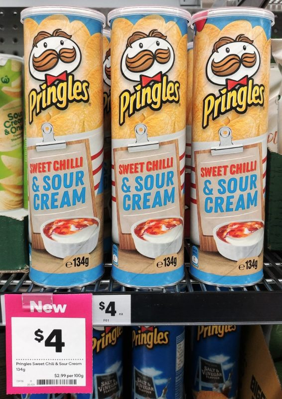 Pringles 134g Sweet Chilli & Sour Cream
