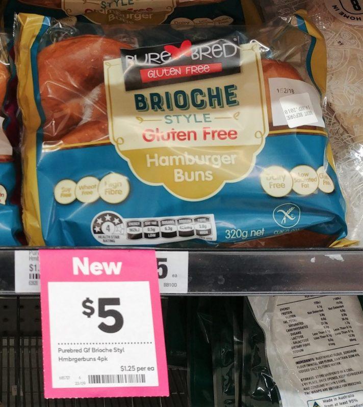 Pure Bred 320g Brioche Style Gluten Hamburger Buns