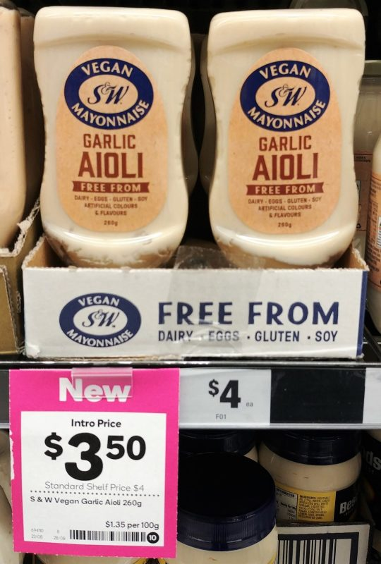 S&W 260g Aioli Garlic Free From