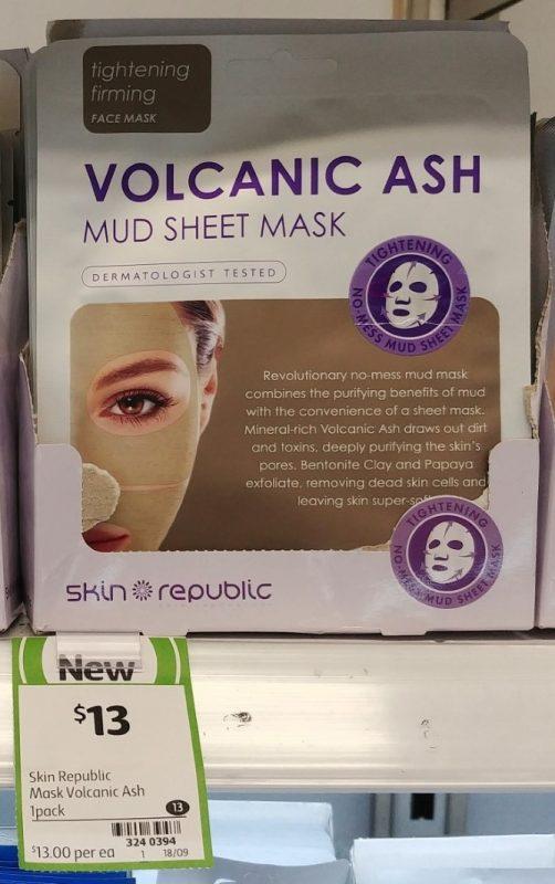 Skin Republic 1 Pack Mud Sheet Mask Volcanic Ash