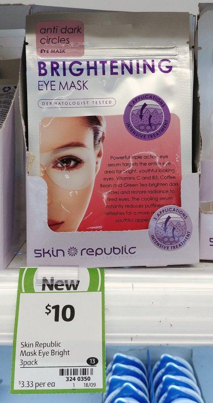Skin Republic 3 Pack Eye Mask Brightening