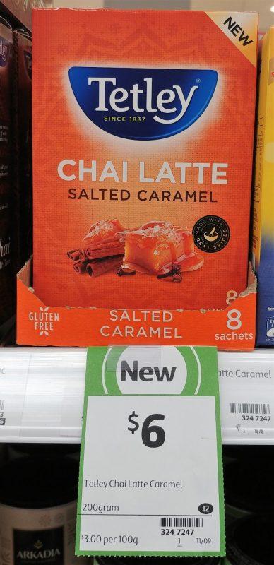 Tetley 200g Chai Latte Salted Caramel