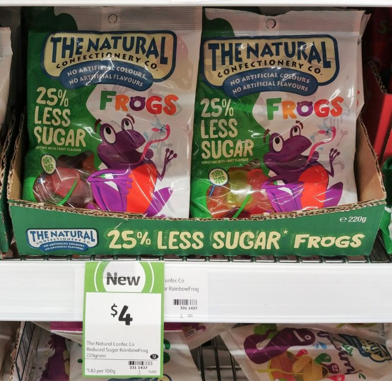 The Natural Confectionery Co 220g 25% Less Sugar Frogs