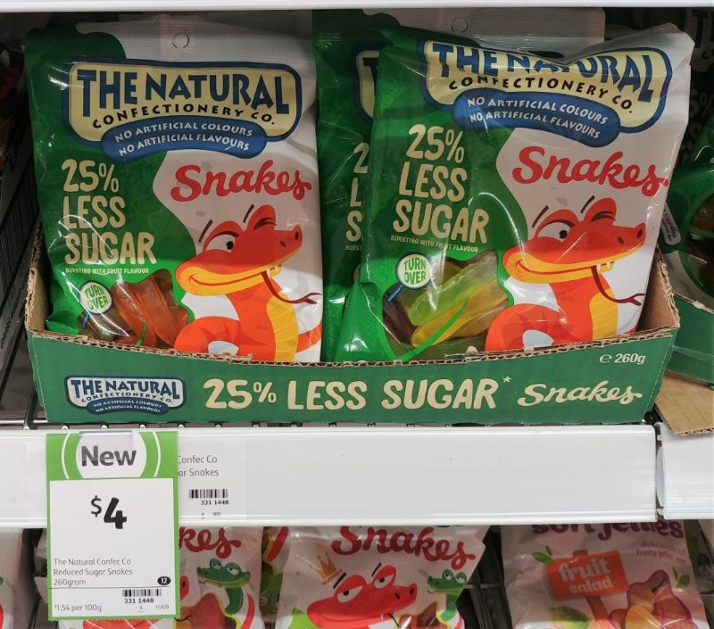 The Natural Confectionery Co 260g 25% Less Sugar Snakes