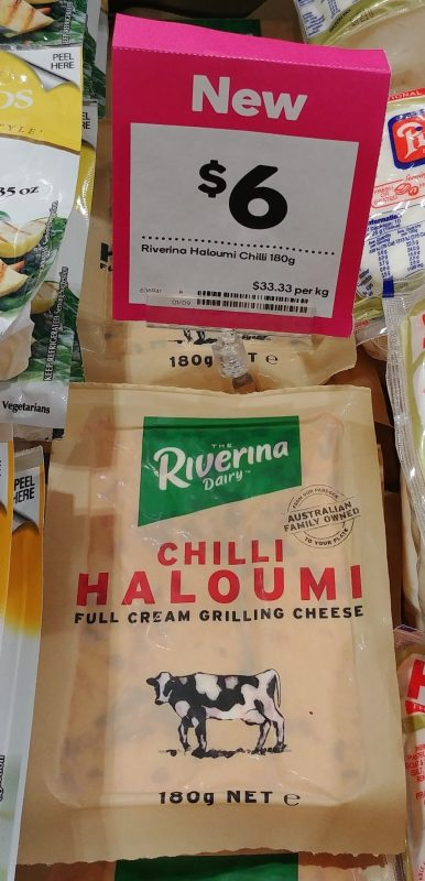 The Riverina Dairy 180g Haloumi Chilli