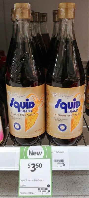 The Royal Squid Brand 725mL Fish Sauce Premium