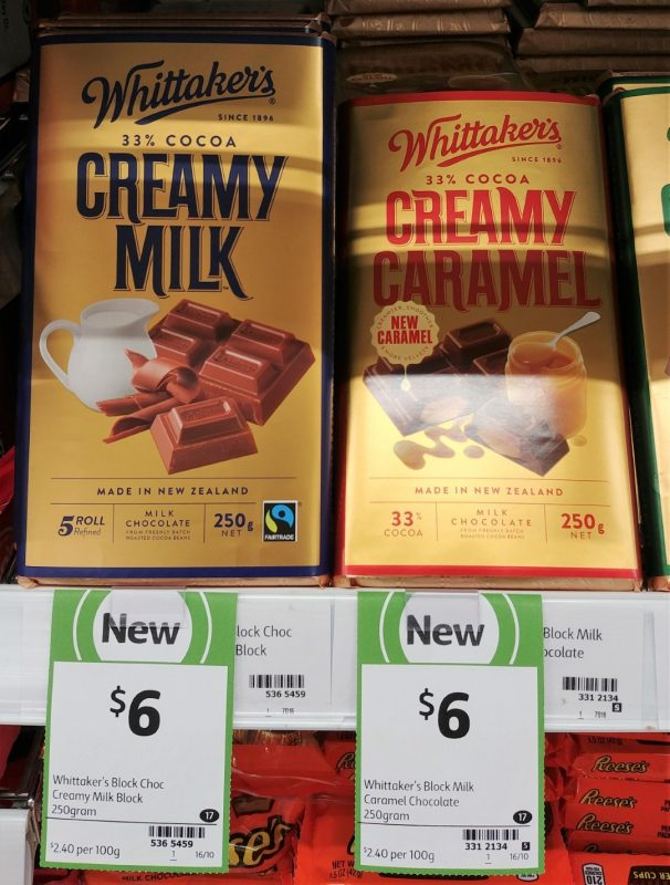 Whittaker's 250g Milk Chocolate Creamy Milk, Creamy Caramel