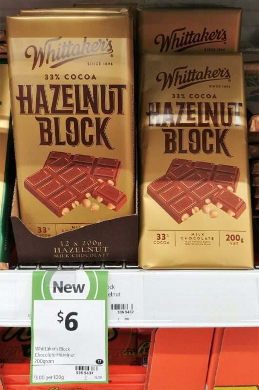 Whittaker's 250g Milk Chocolate Hazelnut Block