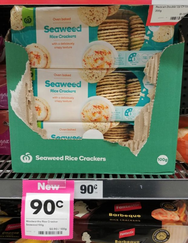Woolworths 100g Rice Crackers Seaweed