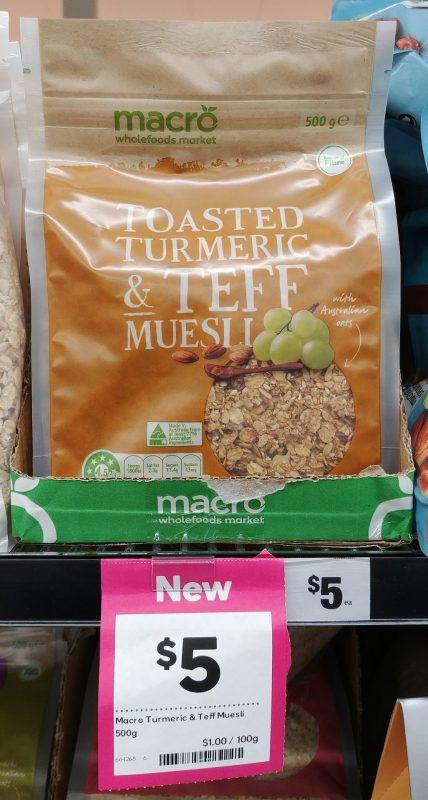Woolworths 500g Macro Muesli Toasted Turmeric & Teff
