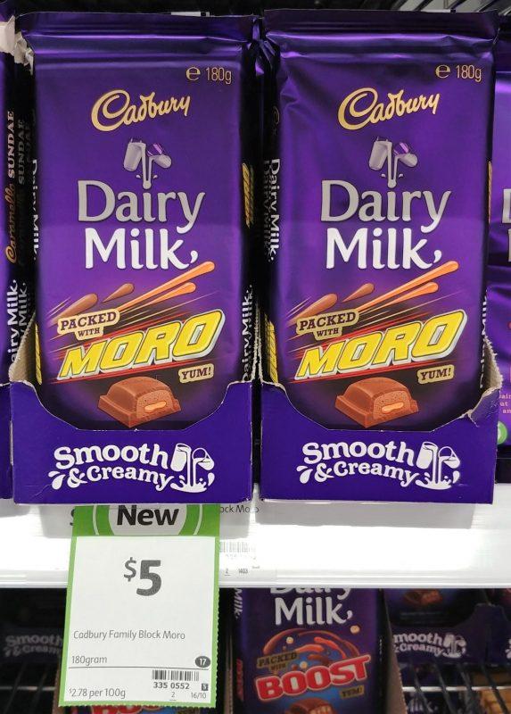 Cadbury 180g Dairy Milk Moro