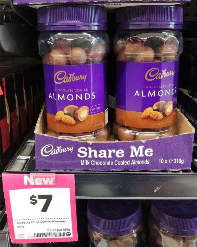 Cadbury 310g Almonds Chocolate Coated