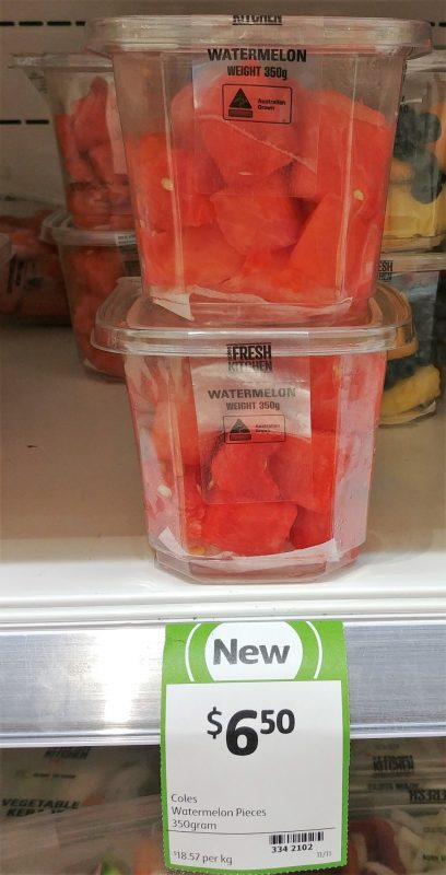 Coles 350g Fresh Kitchen Watermelon