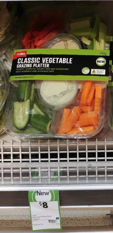 Coles 420g Grazing Platter Classic Vegetable