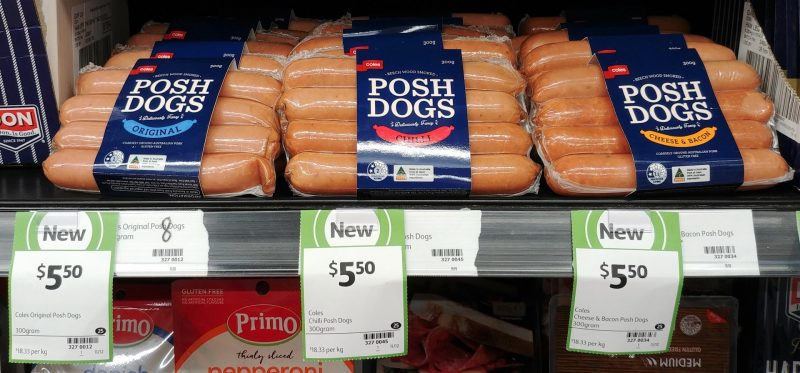 Coles 300g Posh Dogs Original, Chilli, Cheese & Bacon