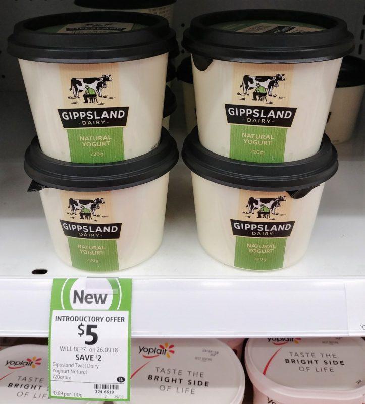 Gippsland Dairy 720g Yoghurt Natural