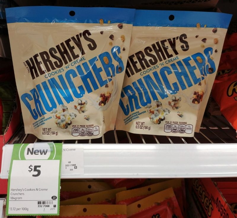 Hershey's 184g Crunchers Cookies 'N' Cream