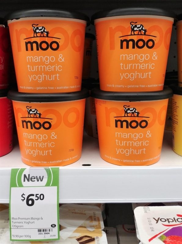 Moo 720g Yoghurt Mango & Turmeric