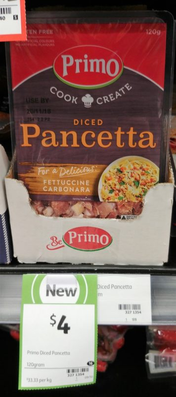 Primo 120g Pancetta Diced