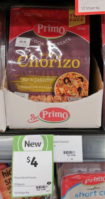 Primo 200g Chorizo Diced