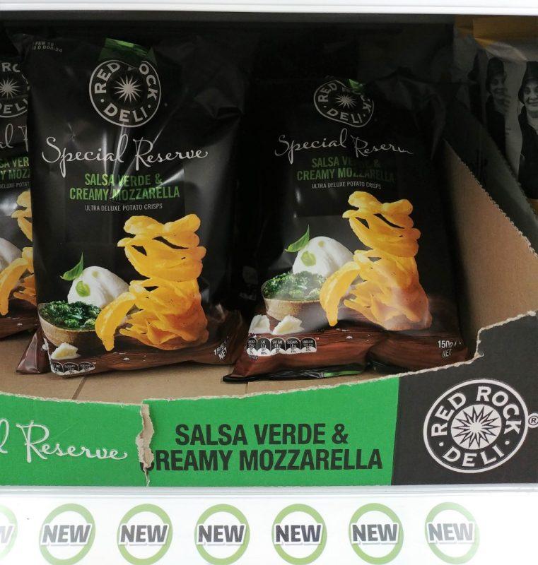 Red Rock Deli 150g Potato Crisps Special Reserve Salsa Verde & Creamy Mozzarella