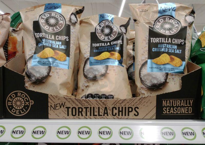 Red Rock Deli 165g Tortilla Chips Australian Crushed Sea Salt