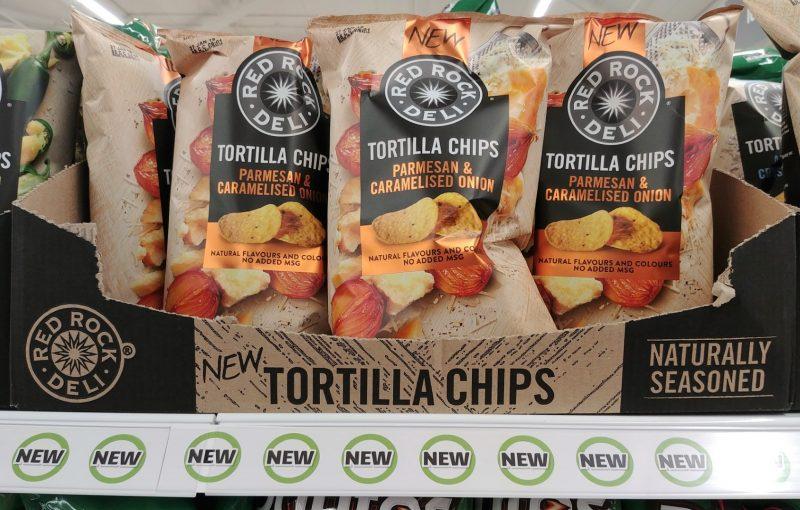 Red Rock Deli 165g Tortilla Chips Parmesan & Caramelised Onion