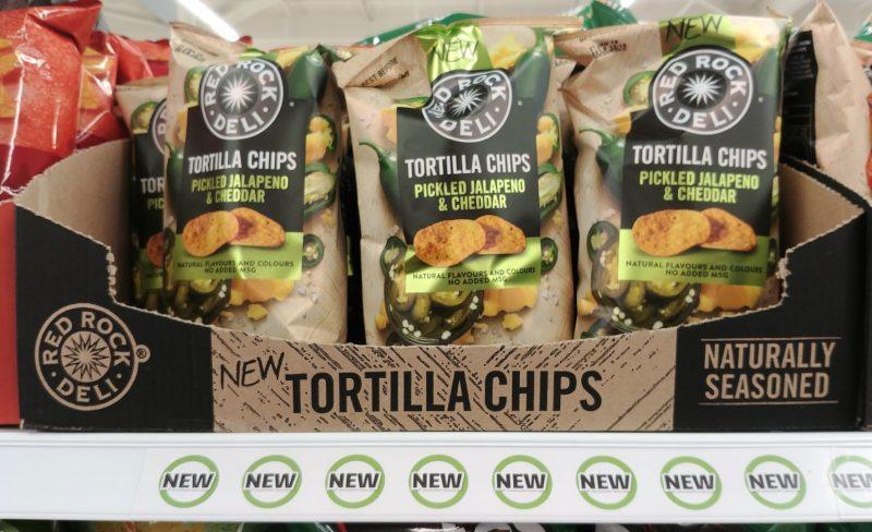 Red Rock Deli 165g Tortilla Chips Pickled Jalapeno & Cheddar